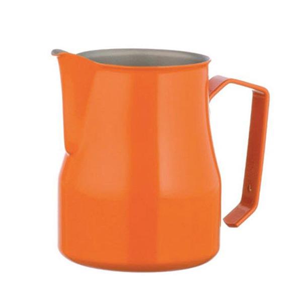MOTTA 專業拉花杯 奶泡杯 350ml 橘
