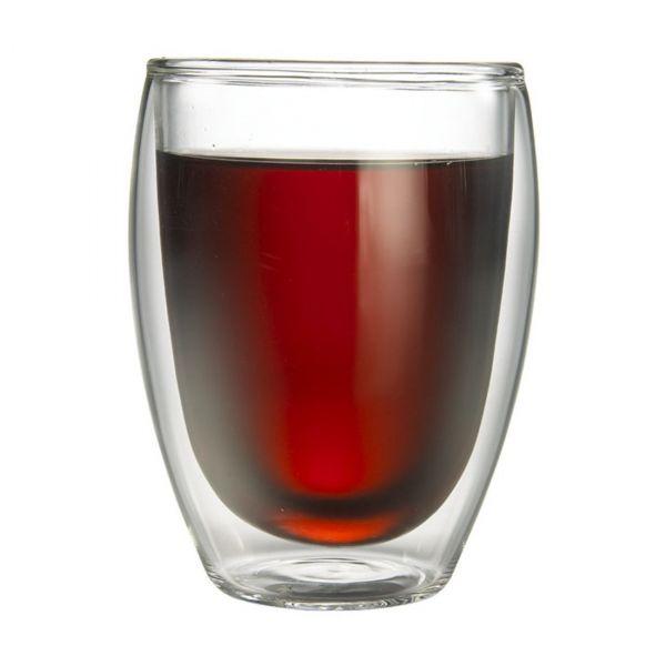 Tiamo 雙層玻璃杯 360cc 2入 通過SGS檢測 玻璃杯,飲料杯,雙層玻璃杯