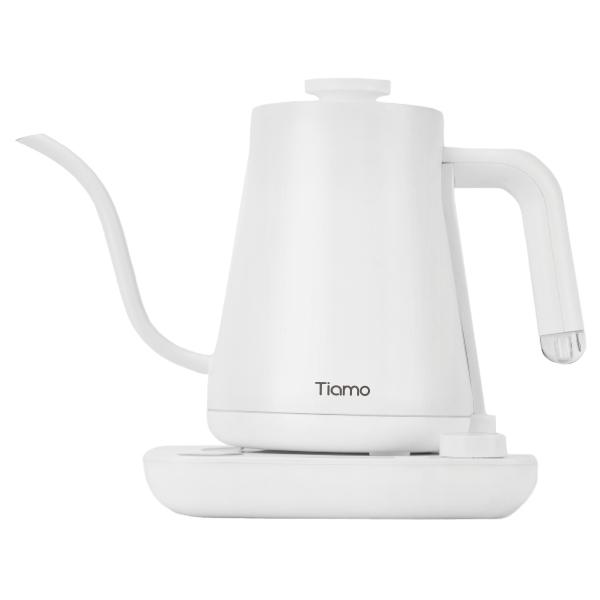 新品!Tiamo KS06T01 電子溫控細口壺 600ml 110V - 天使白 溫控電細口手沖咖啡壺,細口壺,溫控壺,手沖壺,電子溫控細口壺,電子溫控手沖壺