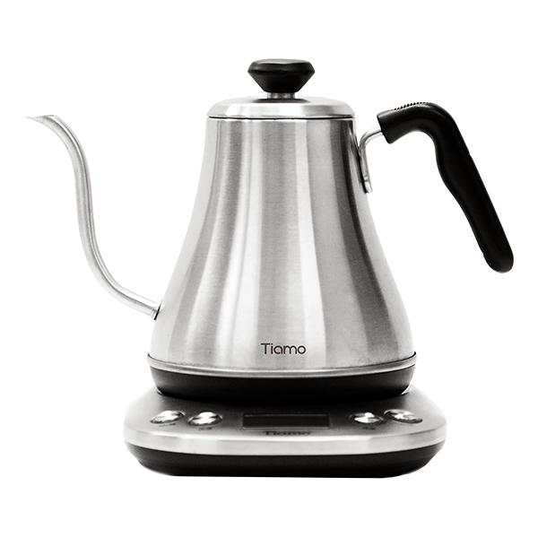 新品!Tiamo HB-3166I 電子溫控細口壺 800ml 110V - 不鏽鋼 溫控電細口手沖咖啡壺,細口壺,溫控壺,手沖壺,電子溫控細口壺,電子溫控手沖壺