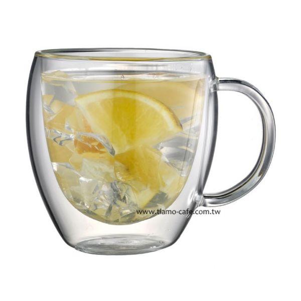 Tiamo 雙層玻璃杯 把手款 275cc 2入 玻璃杯,飲料杯,雙層玻璃杯