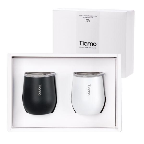 Tiamo 對杯禮盒-真空陶瓷保溫弧形杯 200ml 對杯,保溫杯,保溫瓶,隨手杯,隨行杯,雙層保溫杯,雙層不鏽鋼真空保溫杯