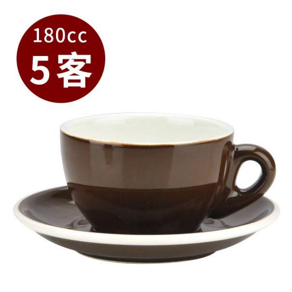 Tiamo 20號蛋形卡布杯盤組 5客 180cc 咖啡 馬克杯,咖啡杯,拿鐵杯,拿鐵專用杯,卡布杯,卡布奇諾專用杯,杯盤組