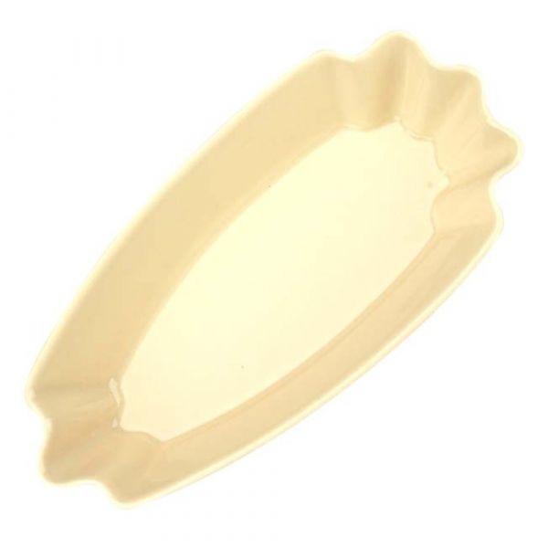 CafeDeTiamo 陶瓷三角形生豆盤-米黃色 陶瓷豆盤,咖啡生豆盤,咖啡生豆陶瓷盤
