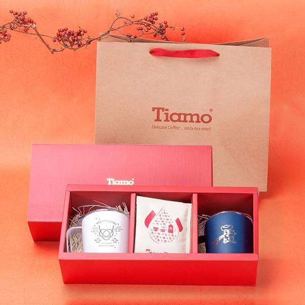 新春限定!Tiamo 好禮成雙·保溫對杯禮盒 精選掛耳超值組,嚴選超值掛耳禮盒,咖啡濾掛禮盒,耳掛咖啡禮盒