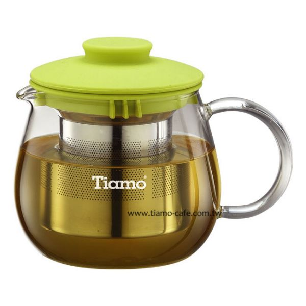 TIAMO FH-3441YX2 花茶壺附濾網 400ml 通過SGS檢測 花茶壺附濾網,透明玻璃花茶壺,透明玻璃咖啡壺,濾網玻璃水壺