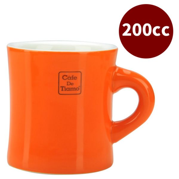 CafeDeTiamo 9號馬克杯 200cc 橘 咖啡杯,茶杯,陶瓷馬克杯