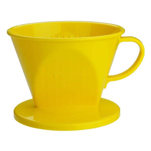 Tiamo 101 AS咖啡濾器 1-2杯份 黃色 梯形濾杯,梯型濾杯,手沖咖啡專用濾杯