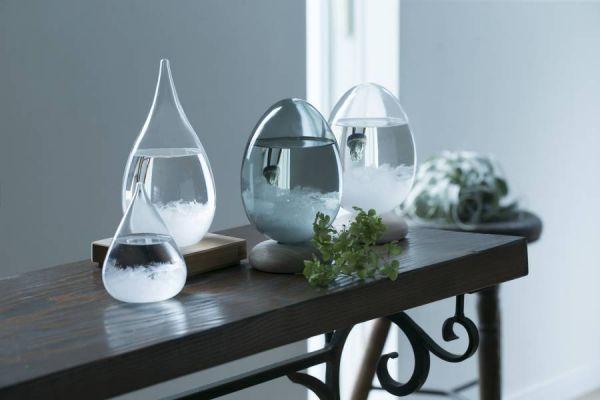 100% Tempo Drop 天氣瓶 脈動 白色蛋形  (附底座) 天氣瓶