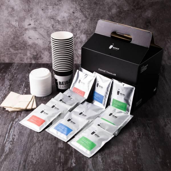 咖啡浸萃桶(戶外及活動用)-18包裝(含杯子、杯蓋、糖包)