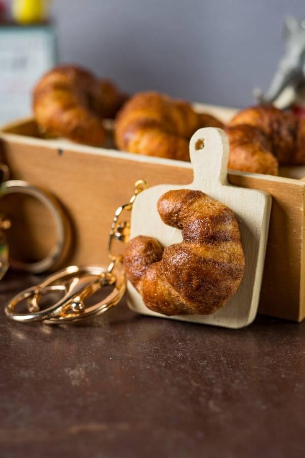 包手作-羊毛氈古早味麵包砧板鑰匙圈 鑰匙圈 麵包 羊毛氈