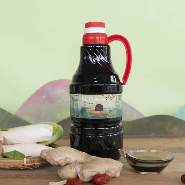冷壓純胡麻油 1500ml 塑膠瓶裝 黑麻油,胡麻油,冷壓黑麻油,黑麻油推薦,料理油,食用油