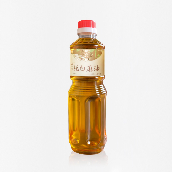 冷壓純白麻油 600ml 塑膠瓶裝 白麻油,冷壓白麻油,白麻油推薦,料理油,食用油