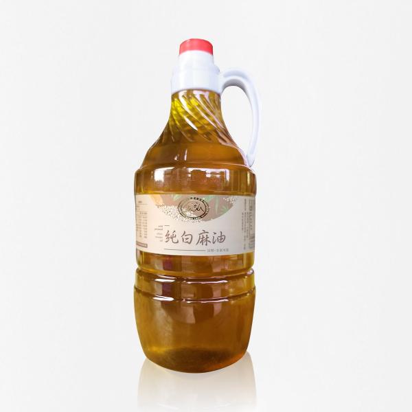 冷壓純白麻油 1500ml 塑膠瓶裝 白麻油,冷壓白麻油,白麻油推薦,料理油,食用油