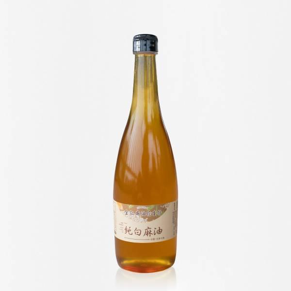 冷壓純白麻油 600ml 玻璃瓶裝 白麻油,冷壓白麻油,白麻油推薦,料理油,食用油