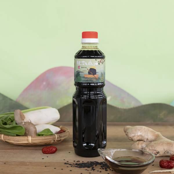 冷壓純胡麻油 600ml 塑膠瓶裝 黑麻油,胡麻油,冷壓黑麻油,黑麻油推薦,料理油,食用油