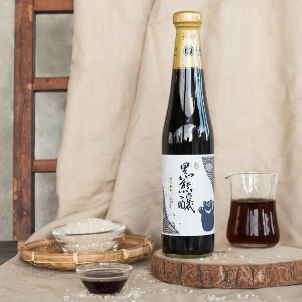 元沛農坊|黑熊釀淡口醬油 420ml 台灣純穀物手工釀造 黑熊釀,薄鹽醬油,手工醬油,醬油推薦