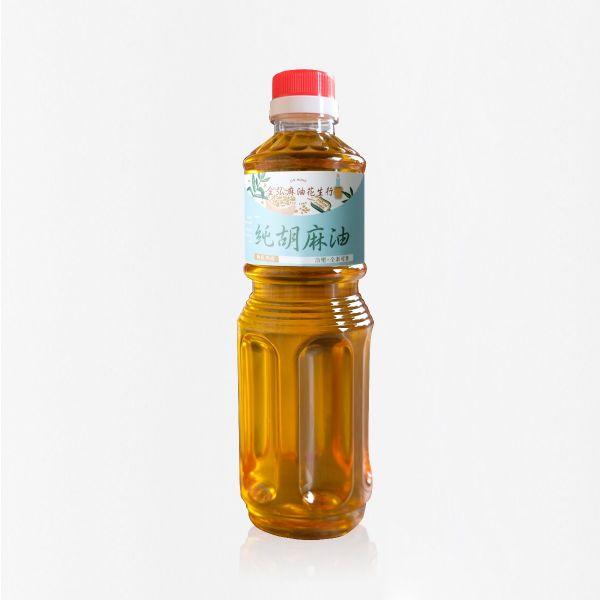 冷壓純胡麻油 極低熟度 600ml 塑膠瓶裝 黑麻油,胡麻油,冷壓黑麻油,黑麻油推薦,料理油,食用油
