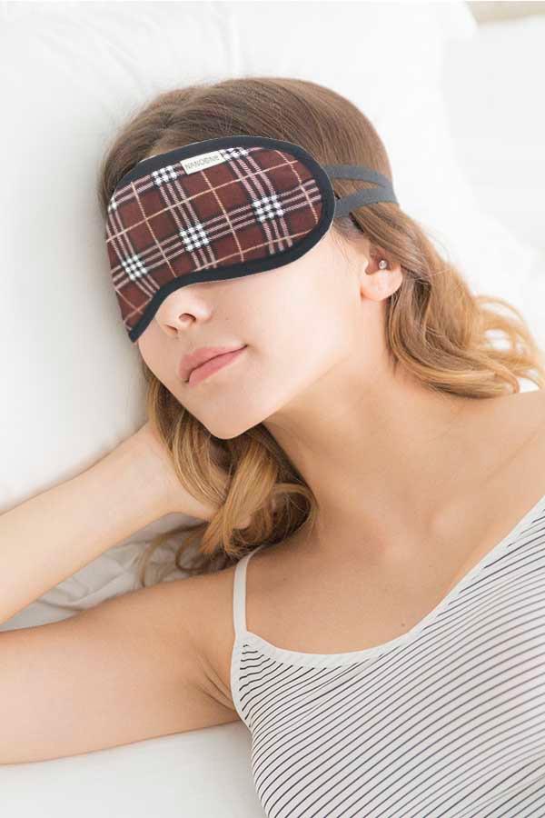 1650負離子紓壓眼罩 / 漫步倫敦 - 英倫風 / 咖 / 棕 / 灰 眼睛腫脹,眼睛充血,熬夜,電腦工作者