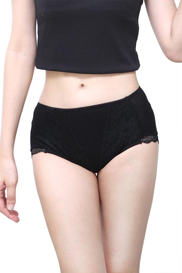 負離子暖宮內褲 / 中腰三角 / 浪漫蕾絲 - 黑/紫/粉 經痛,舒緩經痛,月經,內褲,負離子內褲