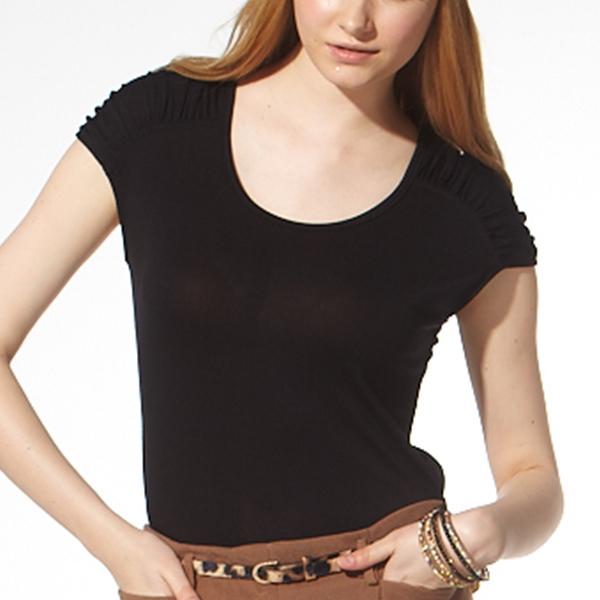 負離子機能短袖 / S2608圓領 / 黑/白/紫 負離子衣物,手腳,冰冷,冬天,保暖,發熱