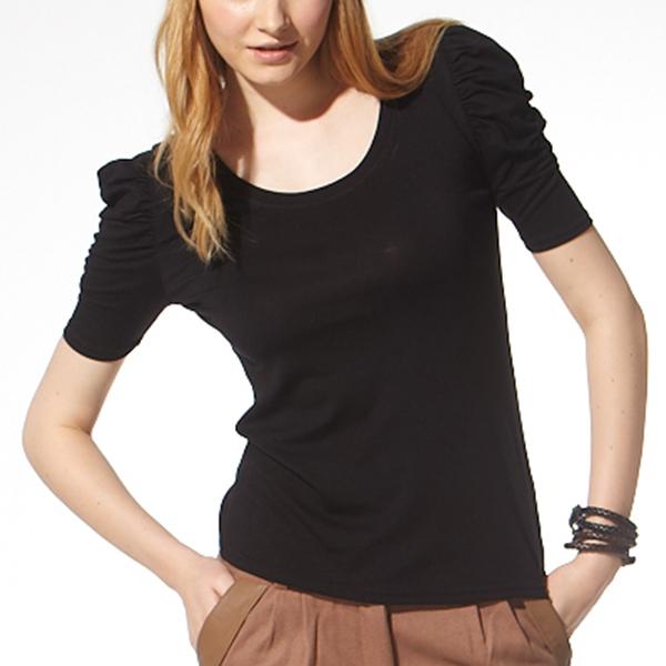 負離子機能7分袖 / S2609圓領 / 黑/可可 負離子衣物,手腳,冰冷,冬天,保暖,發熱