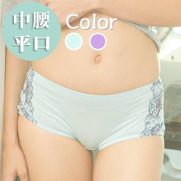 負離子暖宮內褲 / 中腰平口 / 1504紐約誘色 - 黑/淺紫/淺藍 經痛,舒緩經痛,月經,內褲,負離子內褲
