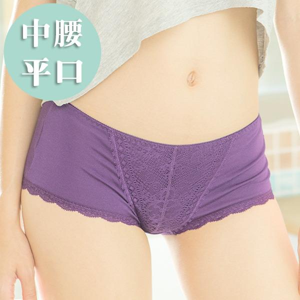 負離子暖宮內褲 / 中腰平口 / 神秘嘉賓 - 黑/紫/淺紫 經痛,舒緩經痛,月經,內褲,負離子內褲