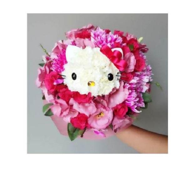 經典款 Hello Kitty 鮮花捧花 捧花 婚禮 結婚 Hello Kitty