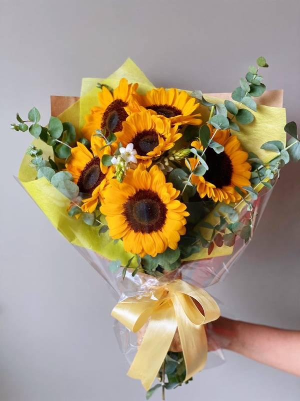 向日葵向上游 畢業 向日葵 太陽花 花束 送花