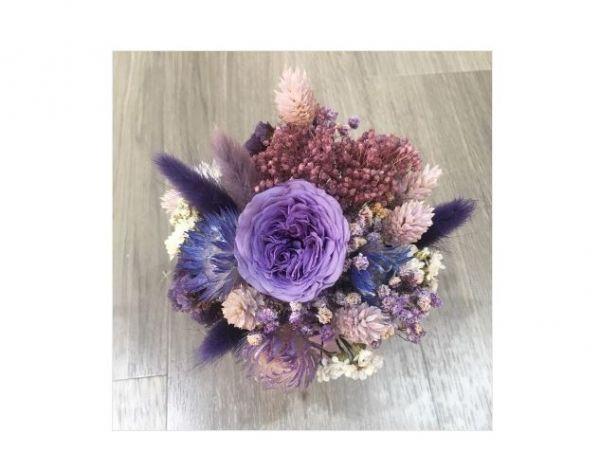 紫色魔力-永恆桌花