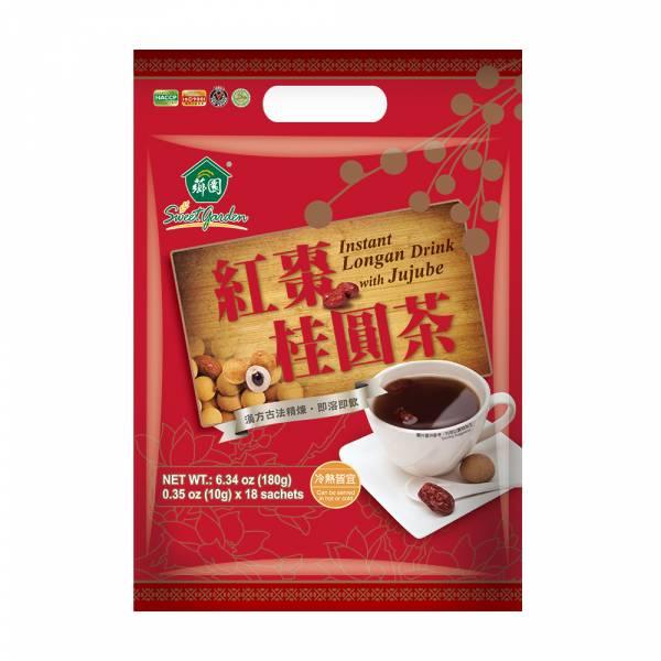 薌園優質穀物-紅棗桂圓茶(10gx18入)/袋 紅棗桂圓茶