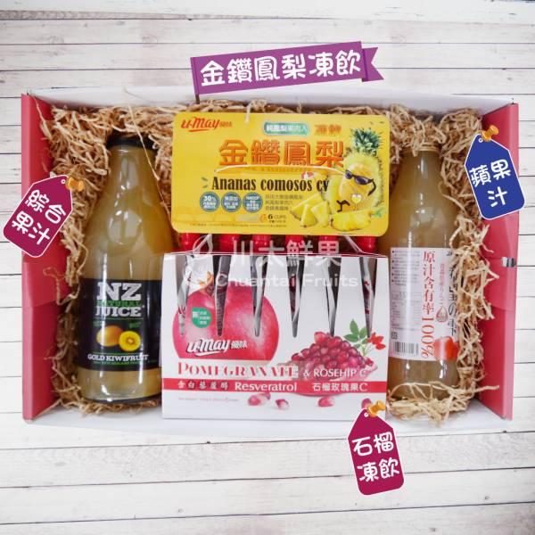 綜合果汁/蘋果汁/金鑽鳳梨凍飲/石榴凍飲禮盒組、多規格(免運) 綜合禮盒,多口味,飲品,常溫,蘋果汁,日本果凍,日本生菓子