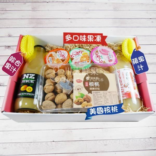 綜合果汁/蘋果汁/果凍/帶殼核桃禮盒組、多規格(免運) 綜合禮盒,多口味,飲品,常溫,蘋果汁,日本果凍,日本生菓子