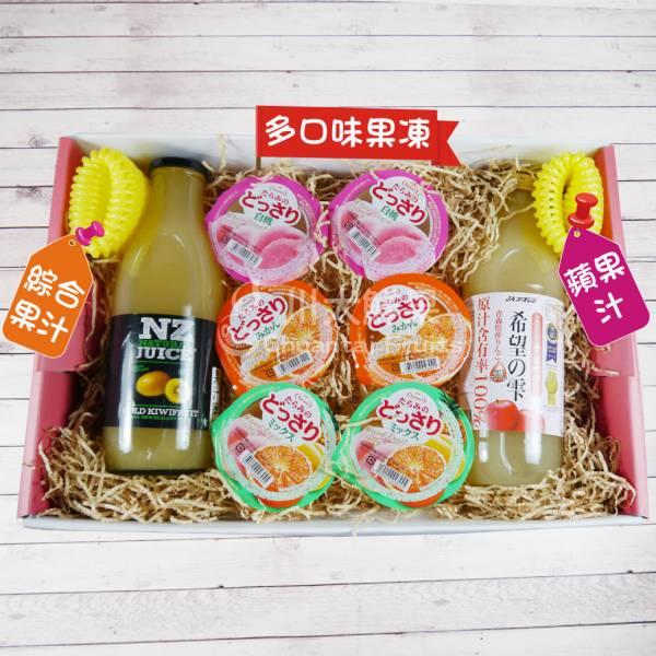 綜合果汁/蘋果汁/果凍禮盒組、多規格(免運) 綜合禮盒,多口味,飲品,常溫,蘋果汁,日本果凍,日本生菓子