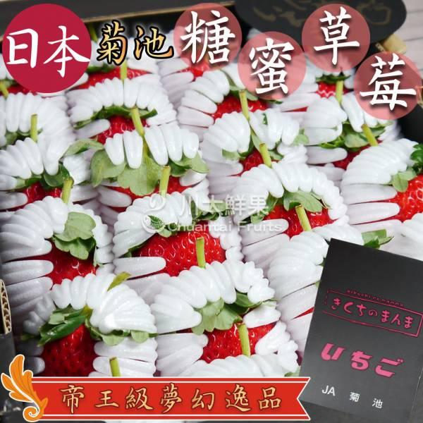 日本熊本菊池蜜糖草莓(免運) 蜜糖草莓,糖蜜草莓,日本草莓,進口草莓,頂級草莓