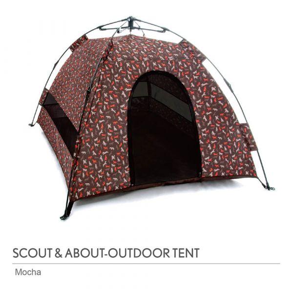 【頂級寵物窩】P.L.A.Y. 露營野趣-寵物專用帳篷(摩卡棕)