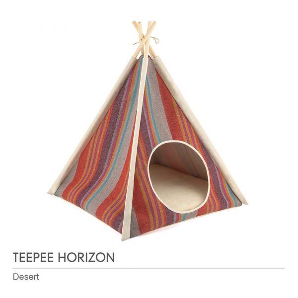 【頂級寵物窩】P.L.A.Y.地平線金字塔帳篷-沙漠紅