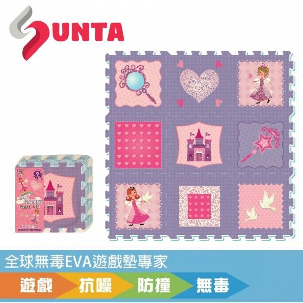 《SUNTA拼接樂扣墊》粉紅公主 EVA樂扣遊戲墊-32*32*1CM(9片裝) SUNTA 拼接墊 巧拼墊 樂扣墊 防摔 防震 滿月禮 嬰幼兒