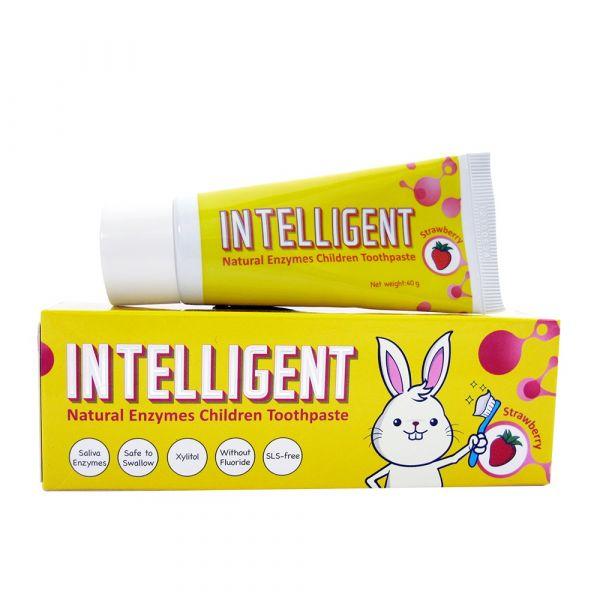 INTELLIGENT 因特力淨兒童酵素牙膏 40g【草莓優格】