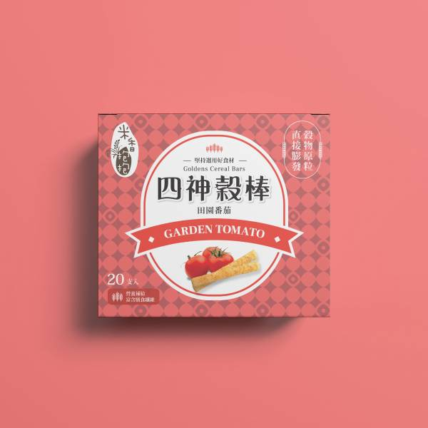 米香抱抱 -四神穀棒 (田園番茄) 適合18m+及大人 米捲,米餅,米香抱抱,嬰兒餅乾,學牙餅,仙貝,穀棒,咖哩,洋蔥,Baby
