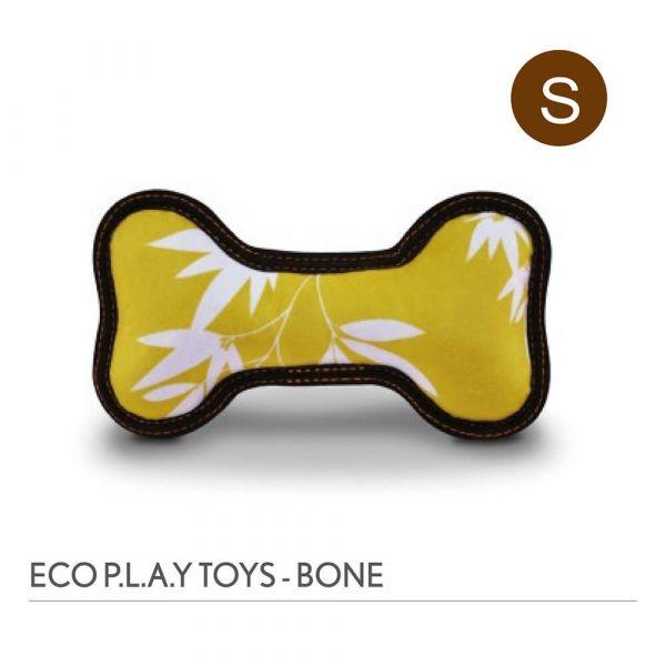 【寵物陪伴、抗憂鬱玩具】P.L.A.Y. 骨頭造型玩具S號-竹藝術(芥末黃)