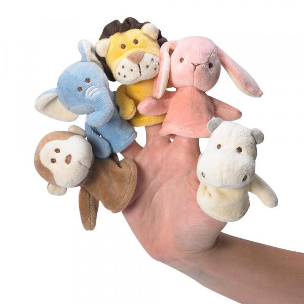 MIYIM有機棉動物手指玩偶 - 5隻入