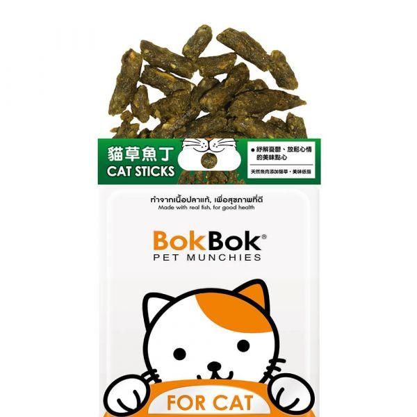 【天然健康貓咪零食】BokBok鮮吃魚-貓草魚丁35g