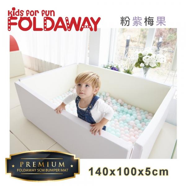 《韓國FOLDAWAY》5CM極厚款遊戲城堡圍欄 (LIGHT PINK GREY粉紫梅果) 爬行墊 地墊