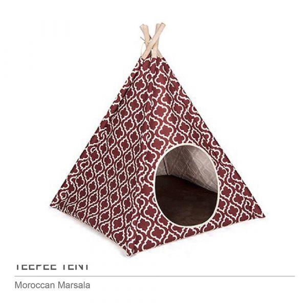 【頂級寵物窩】P.L.A.Y.金字塔帳篷-摩洛哥紅