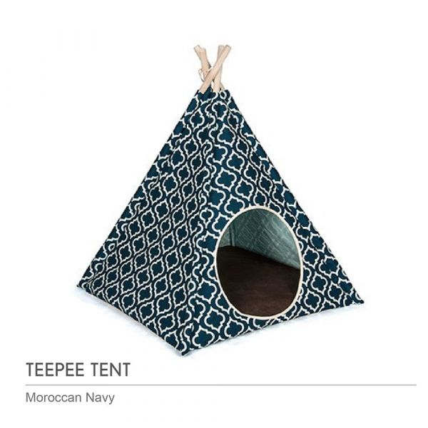【頂級寵物窩】P.L.A.Y.金字塔帳篷-摩洛哥藍