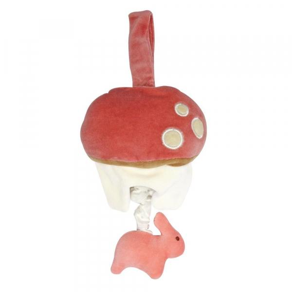 MIYIM有機棉音樂拉鈴 - 兔兔蘑菇