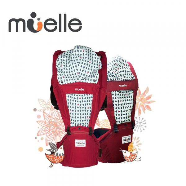 《韓國MUELLE》HIPSEAT 坐墊式嬰兒腰凳背巾 - 經典紅UNIQUE & RED 韓國 MUELLE 坐墊式嬰兒腰凳 背巾