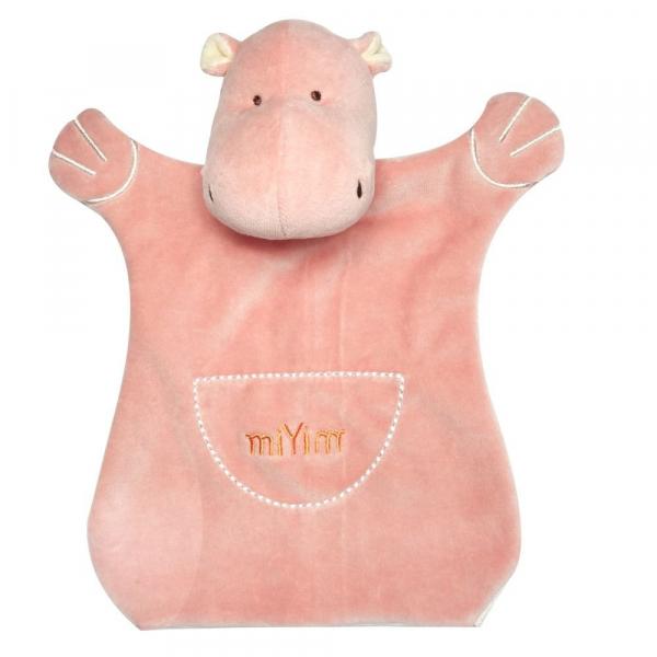 MIYIM有機棉手偶安撫巾 - 喜寶河馬